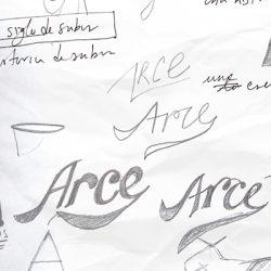 Bocetaje logotipo Arce